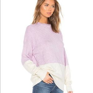 NEW Lovers + Friends Lilac and Ivory Tina Sweater